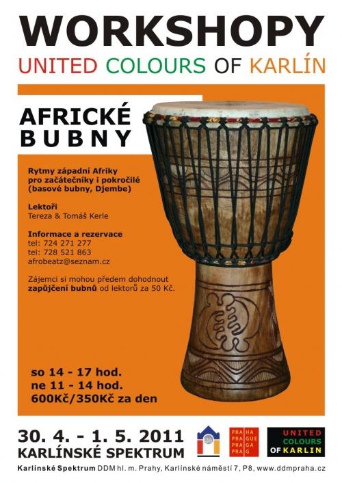 Víkendový workshop afrických rytmů