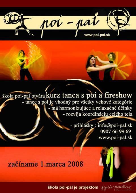 Kurz tance s poi a fireshow